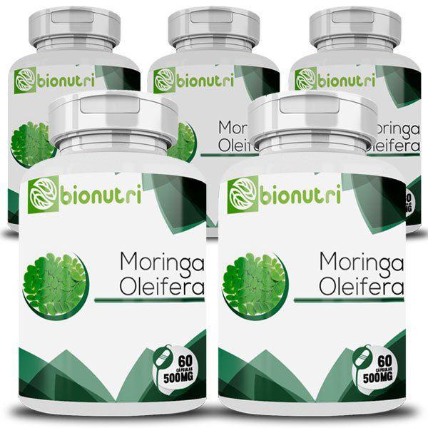 Moringa Oleifera - Original - 500mg - 5 Potes  - LA Nature