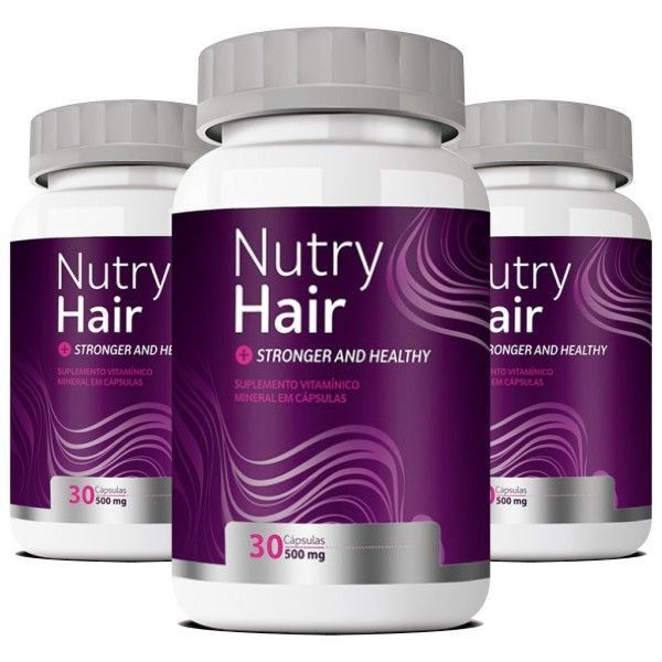 Nutry Hair Original | Vitamina para Cabelos - 03 Potes  - LA Nature