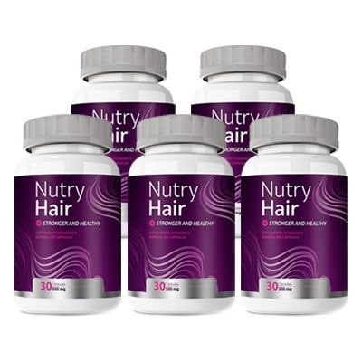 Nutry Hair Original | Vitamina para Cabelos - 05 Potes  - LA Nature