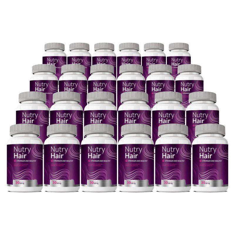 Vitamina para Cabelo - Nutry Hair 500mg - 24 Potes (Atacado)  - LA Nature