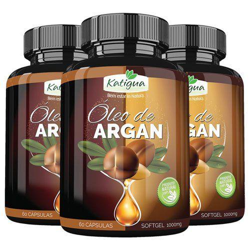 Óleo de Argan - Slim Fit - 3 Potes com 60 cápsulas de 1000mg (cada).  - LA Nature