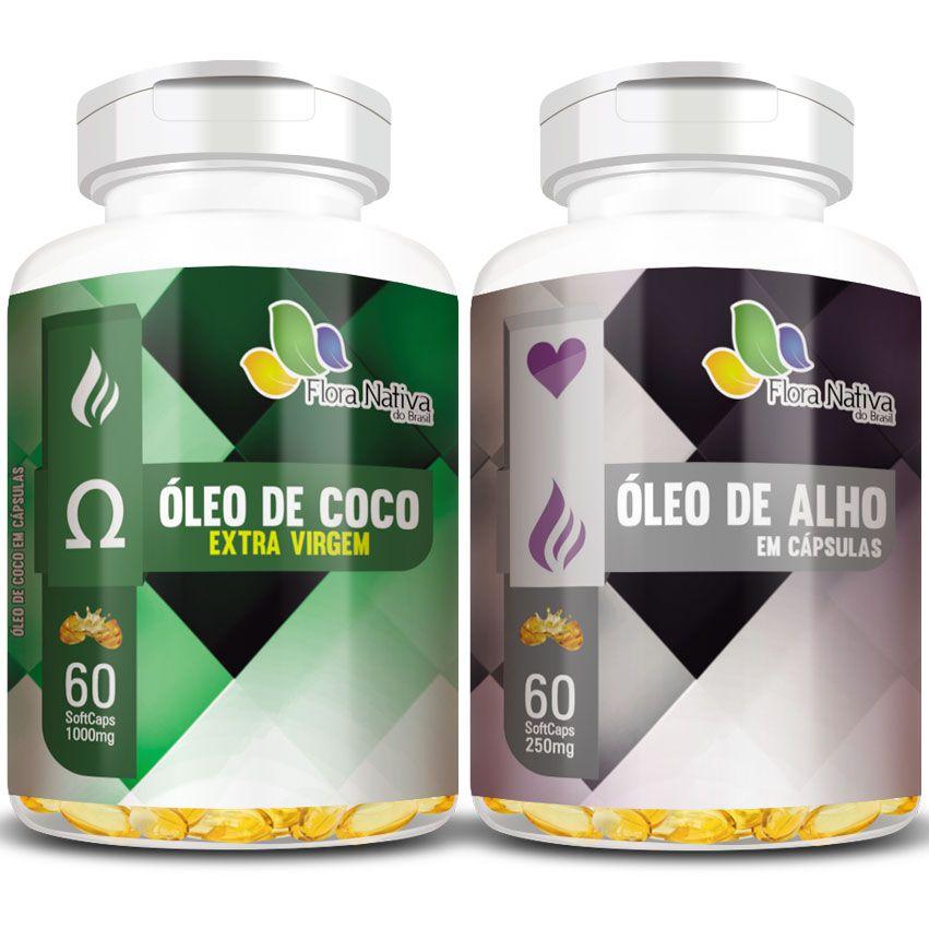 Óleo de Coco Extra Virgem 1000mg + Óleo de Alho 250mg  - LA Nature