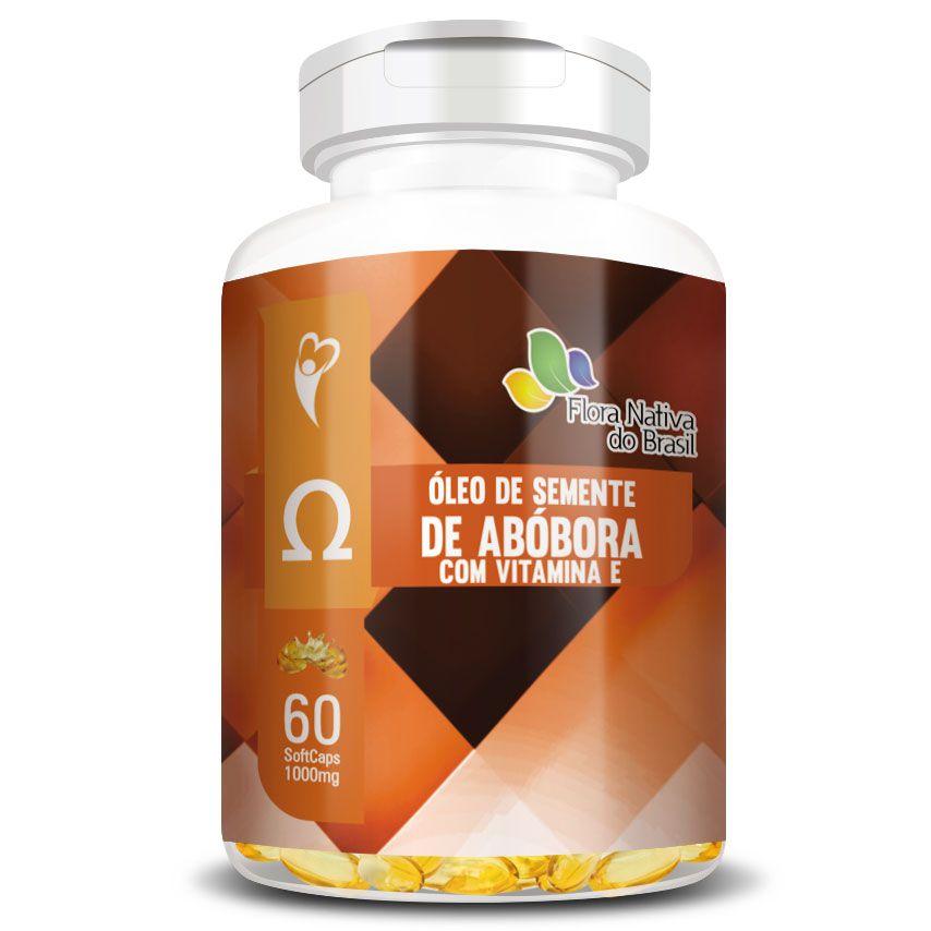 Óleo de Semente de Abóbora com Vitamina E - 1000mg - 60 cápsulas