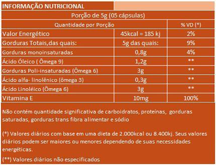 Óleo de Semente de Abóbora com Vitamina E - 60 cápsulas de 1000mg  - LA Nature