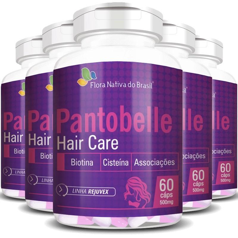 Pantobelle Hair Care 500mg, Original - 5 Potes (300 cáps.)