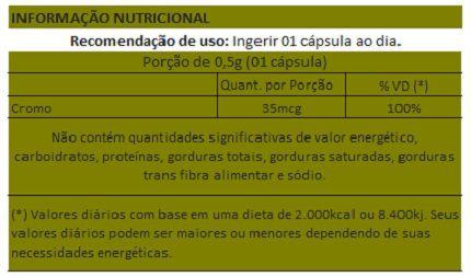 Picolinato de Cromo - 60 cápsulas de 500mg - Original  - LA Nature