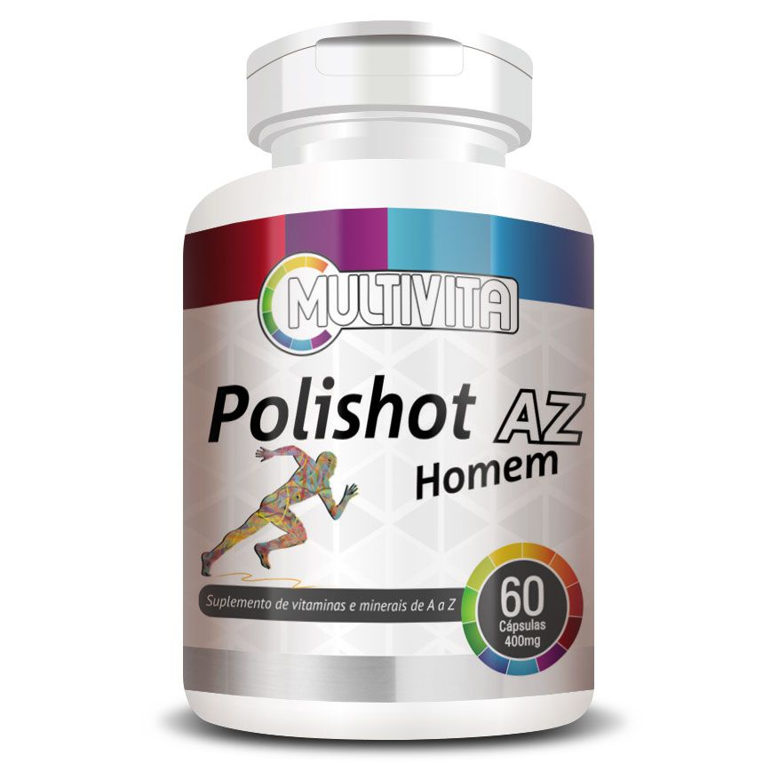 Polishot AZ Homem (Polivitaminico / Multivitaminico) 60 cáps. de 500mg  - LA Nature