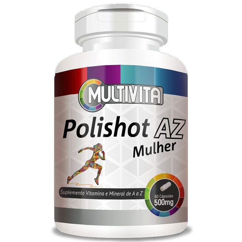 Polishot AZ Mulher (Polivitaminico / Multivitaminico) 60 cáps. de 500mg
