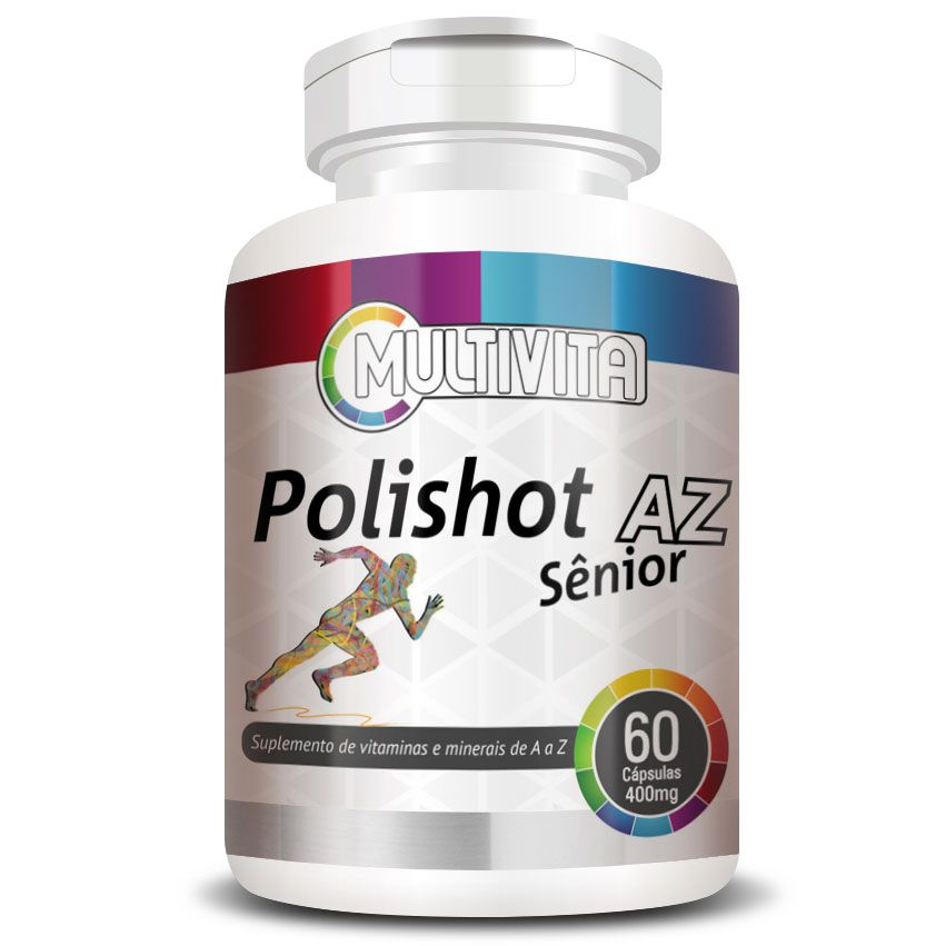 Polishot AZ Senior (Polivitaminico / Multivitaminico) 60 cáps. de 400mg  - LA Nature
