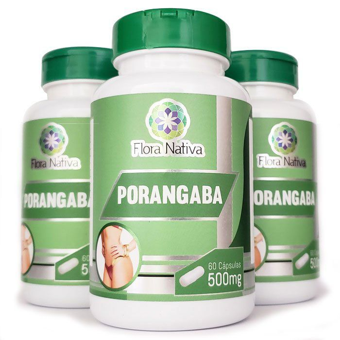 Emagrecedor Porangaba Original 500mg - 03 Potes