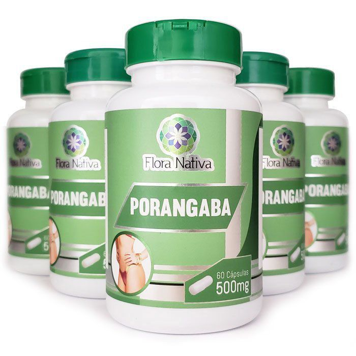 Emagrecedor Porangaba Original 500mg - 05 Potes - LA Nature