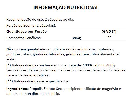 Própolis - Extrato Seco - 400mg - 3 Potes (180 cáps.)  - LA Nature