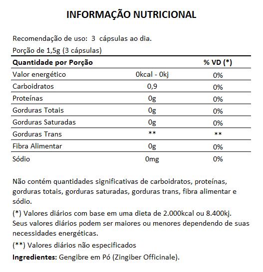 Própolis - Extrato Seco - 60 cáps. de 400mg + Gengibre 100% Puro - 60 cáps. de 500mg  - LA Nature