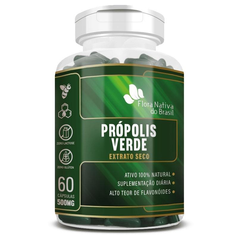 Própolis Verde - Extrato Seco - 60 cápsulas de 500mg
