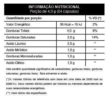 Pure Coco Original Óleo Coco Extra Virgem 1000mg - Emagrecedor - 1 Pote  - LA Nature