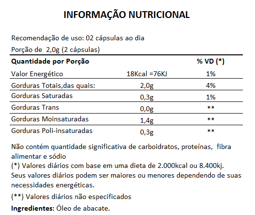 Pure Persea Original Óleo de Abacate 1000mg Emagrecedor - 3 Potes  - LA Nature