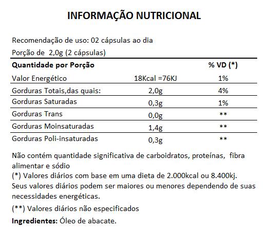 Pure Persea Original Óleo de Abacate 1000mg Emagrecedor - 5 Potes  - LA Nature