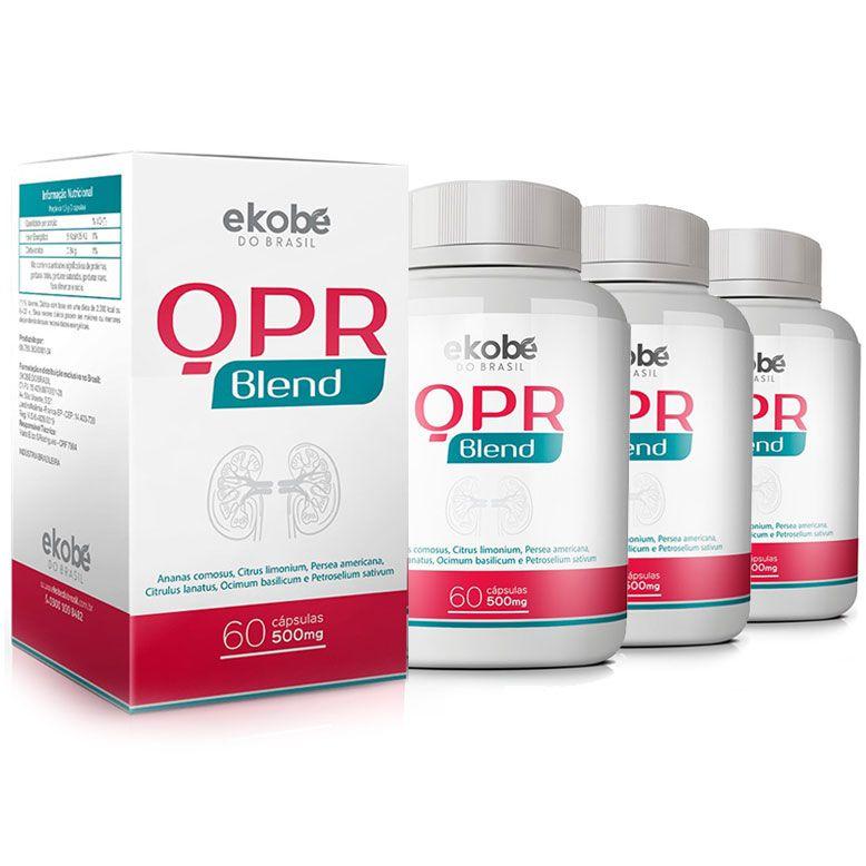 QPR Blend Original - 3 Potes (180 Cápsulas) - Rins e Sistema Urinário