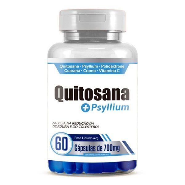 Quitosana + Psyllium - Emagrecedor | Original | 700mg - 01 Pote  - LA Nature