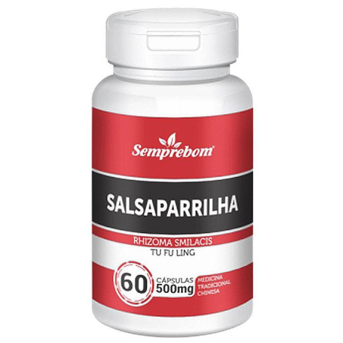 Salsaparrilha 500mg - 100% Pura - 60 cápsulas