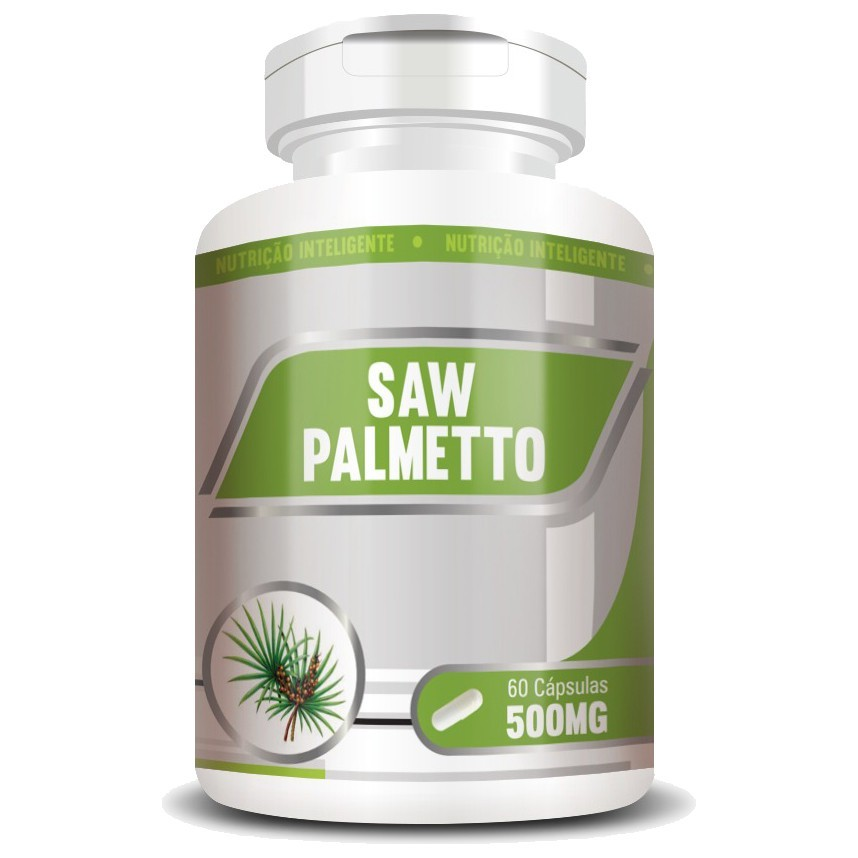 Saw Palmetto 500mg - 100% Puro - 60 cápsulas