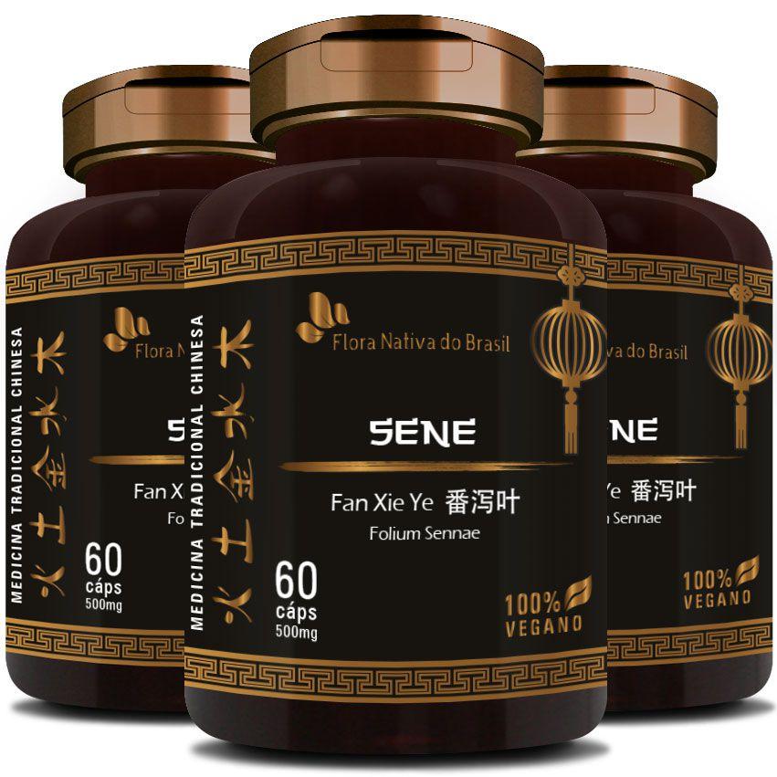 Sene - Fan Xie Ye (Folium Sennae) - 500mg - 03 Potes  - LA Nature