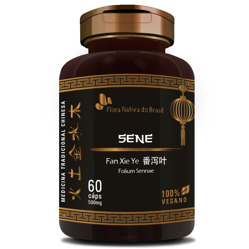 Sene - Fan Xie Ye (Folium Sennae) - 60 cápsulas de 500mg