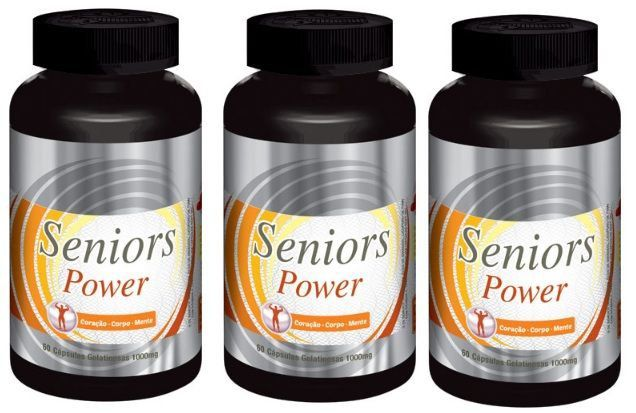 Seniors Power Original Estimulante Sexual Masculino - 03 Potes  - LA Nature
