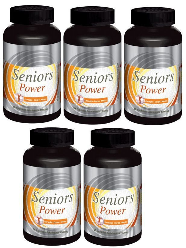 Seniors Power Original Estimulante Sexual Masculino - 05 Potes  - LA Nature