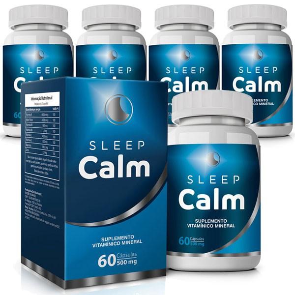 Sleep Calm 500mg - 05 Potes com 60 cápsulas  - LA Nature