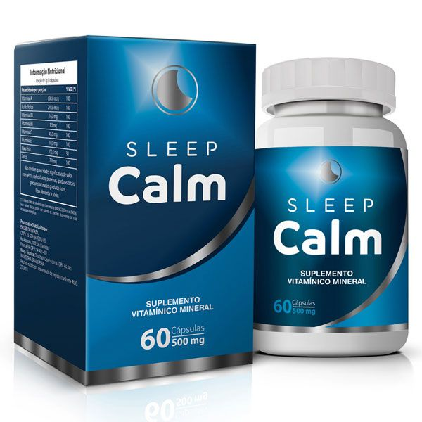 Sleep Calm - 500mg - 60 cápsulas | Ativador de Melatonina - 01 Pote  - LA Nature