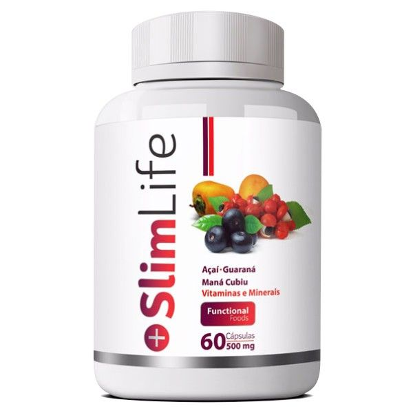 Slim Life - Emagrecedor - Original - 500mg - 01 Pote  - LA Nature