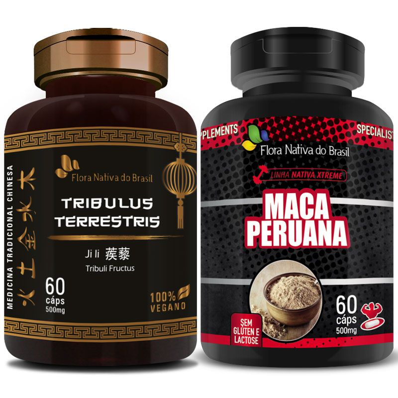 Kit Tribullus Terrestris 500mg + Maca Peruana 500mg
