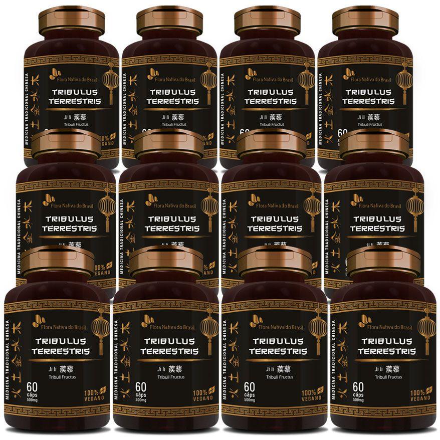 Tribullus Terrestris (Ji Li - Tribuli Fuctrus) - 100% Vegano - 12 Potes  - LA Nature