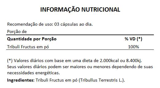 Tribullus Terrestris (Ji Li - Tribuli Fuctrus) - 100% Vegano 500mg - 1 Pote  - LA Nature