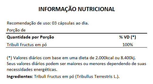 Tribullus Terrestris (Ji Li - Tribuli Fuctrus) - 100% Vegano 500mg - 5 Potes  - LA Nature