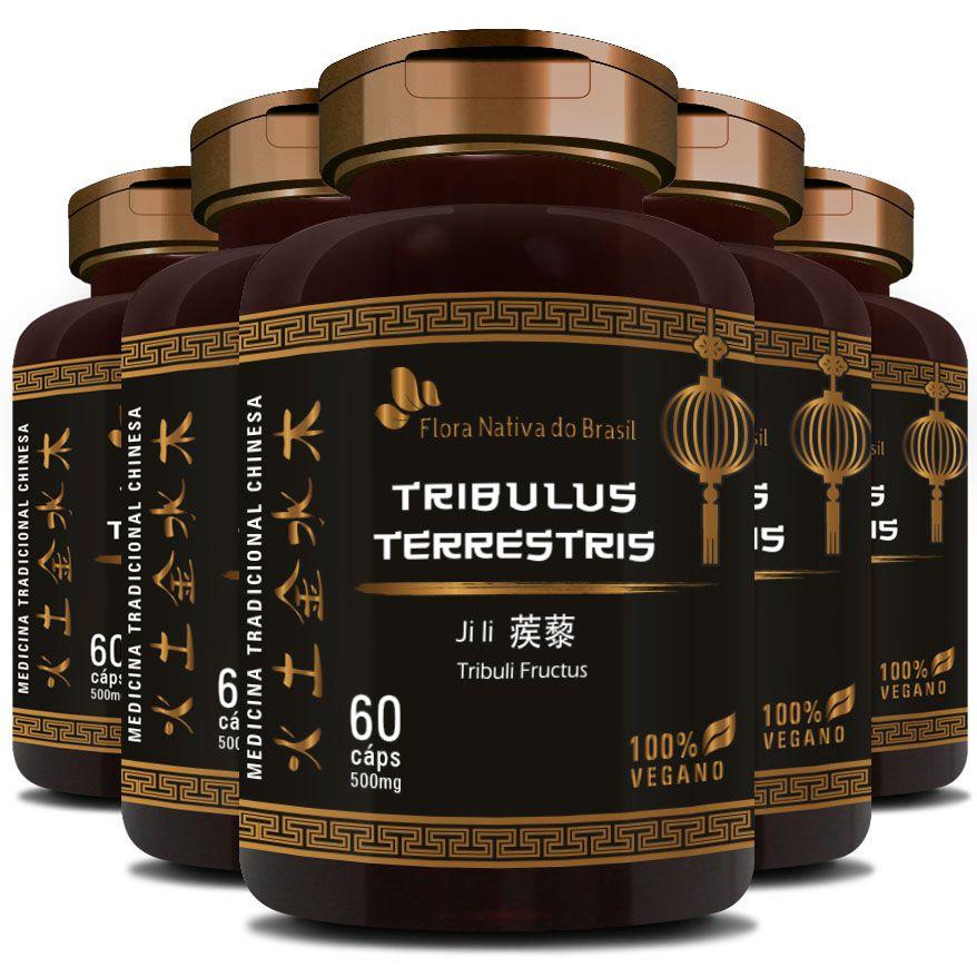 Tribullus Terrestris (Ji Li - Tribuli Fuctrus) - Vegano 500mg - 5 Potes  - LA Nature