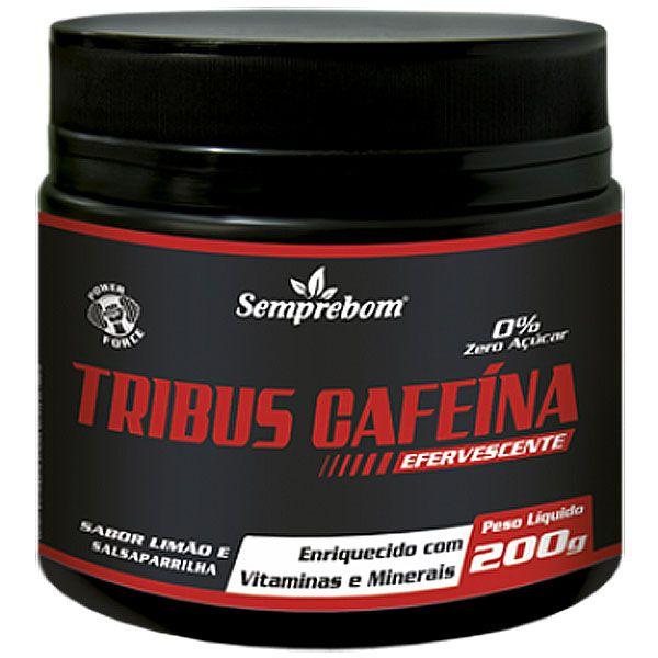 Tribus Cafeína Efervescente, 200g, Sabor Limão e Salsaparrilha - 0% Zero Açúcar