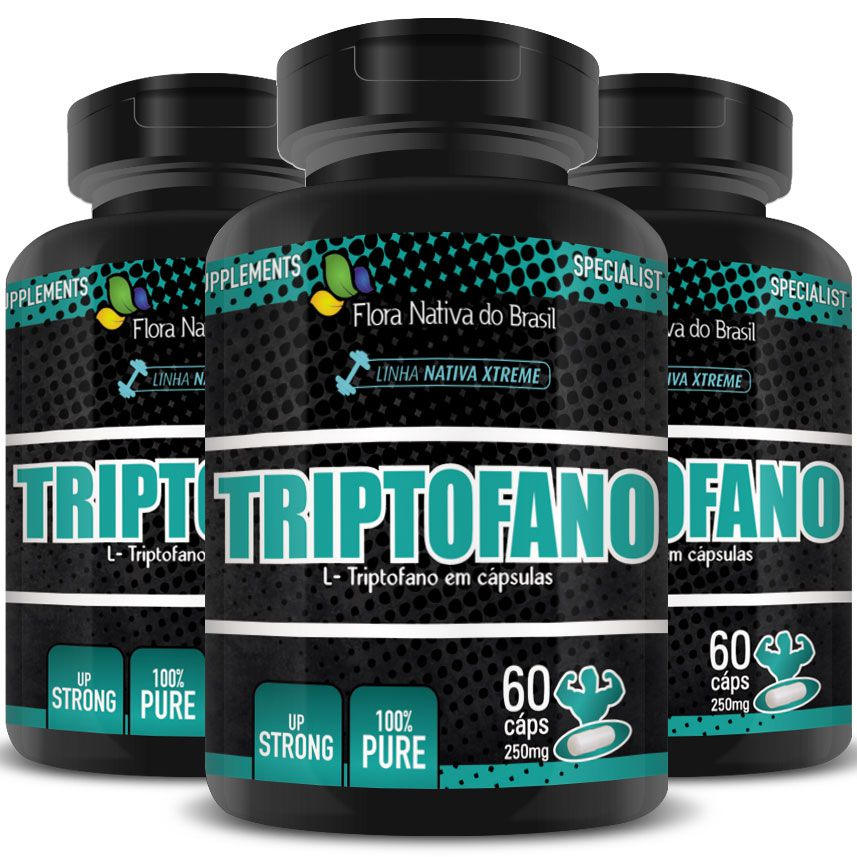Triptofano - 100% Puro - 250mg - 03 Potes  - LA Nature