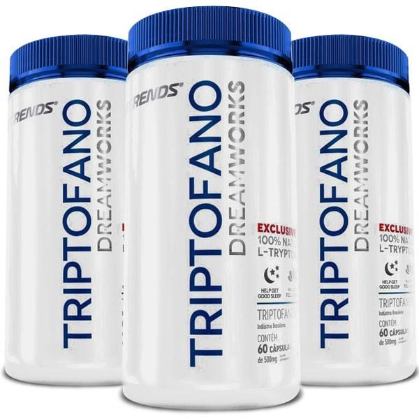 Triptofano L-Tryptophan Original - 3 Potes (180 cáps)