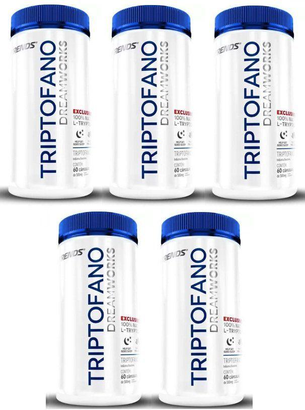 Triptofano - L-Tryptophan - Original | Ativador de Melatonina - 05 Potes  - LA Nature