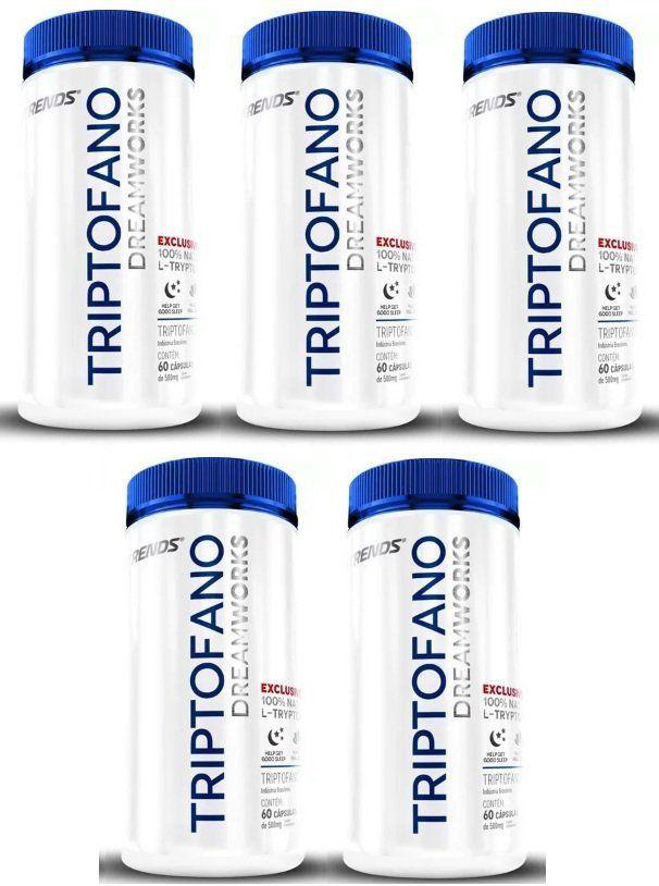 Triptofano - L-Tryptophan - Original   Ativador de Melatonina - 05 Potes  - LA Nature