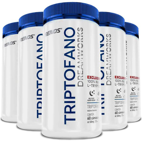 Triptofano L-Tryptophan Original 500mg - 5 Potes  - LA Nature