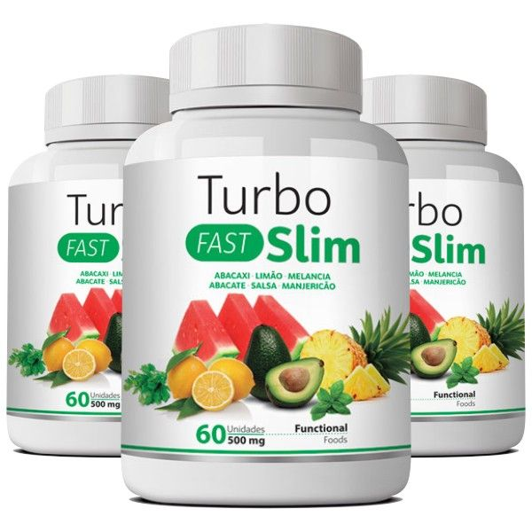 Turbo Slim Fast - Emagrecedor - Original | 500mg | 03 Potes  - LA Nature