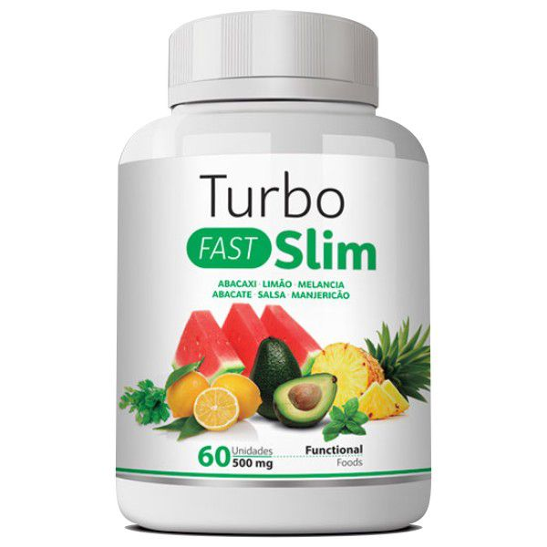 Emagrecedor Turbo Slim Fast - Original | 500mg | 01 Pote  - LA Nature