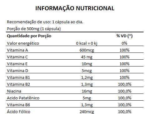 Vitamina para Cabelo - Nutry Hair 500mg - 05 Potes (Original)  - LA Nature