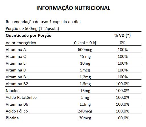 Vitamina para Cabelo - Nutry Hair Original 500mg - 24 Potes (Atacado)  - LA Nature