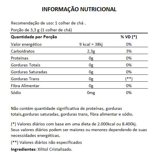 Xilitol Adoçante Natural - 350g  - LA Nature