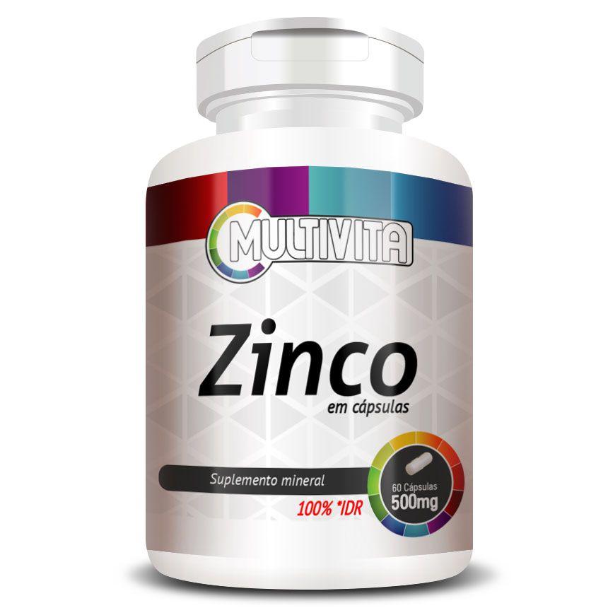 Zinco - 60 cápsulas de 500mg  - LA Nature