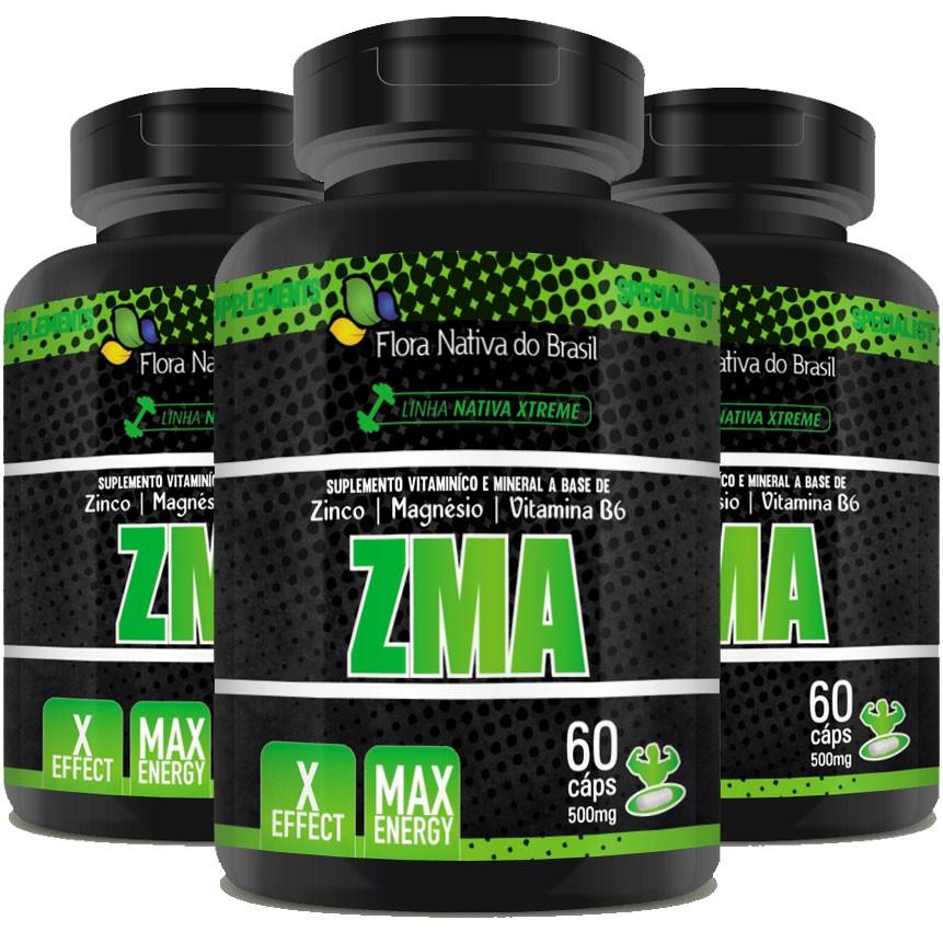 ZMA - Original - 500mg - 03 Potes   - LA Nature